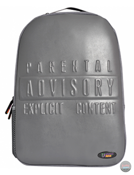 Warning Grey Backpack