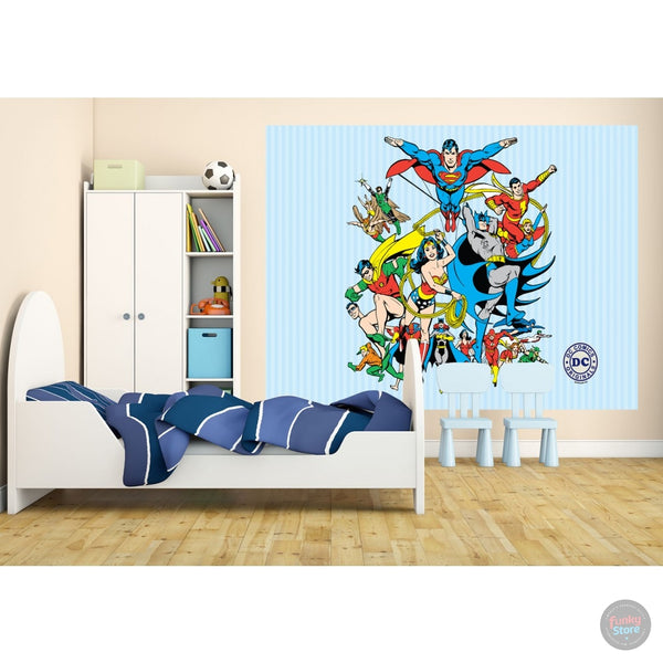 DC COMICS DECO WALL MURAL