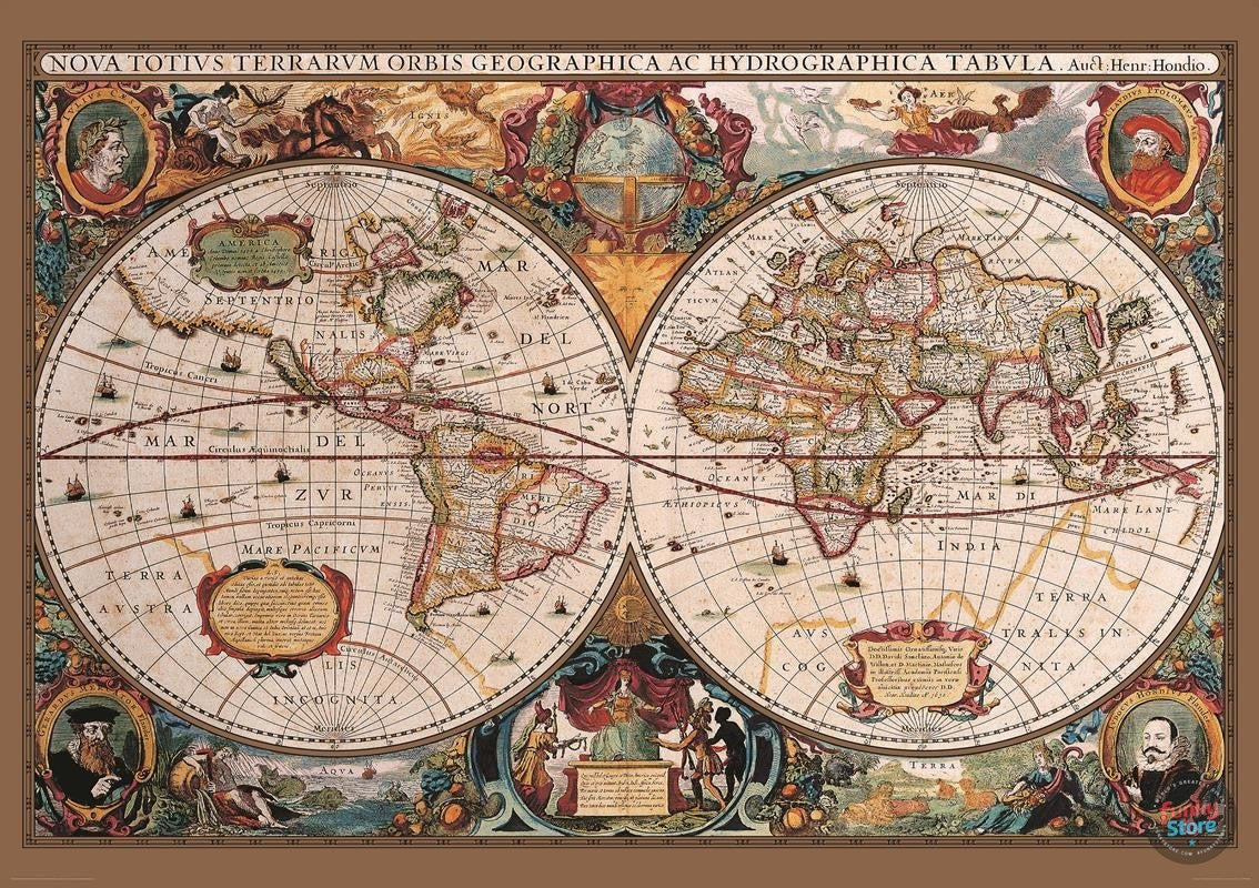 Antique world map wall mural funky store antique world map wall mural antique world map wall mural amipublicfo Gallery