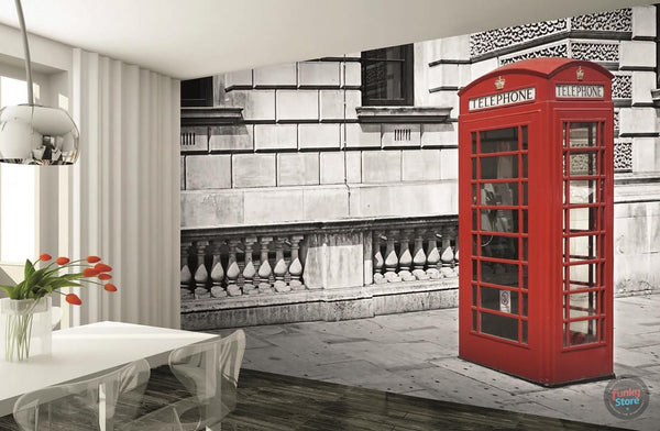 LONDON PHONE BOX WALL MURAL