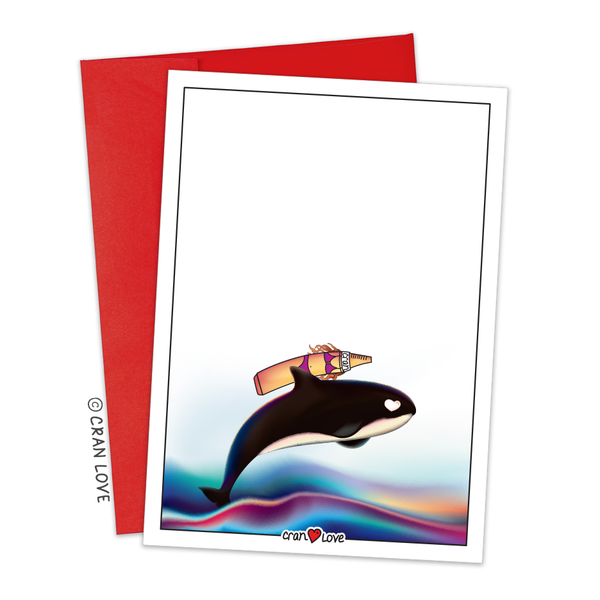 "Crayon Rides an Orca! ""Joy Ride"" Stationery Set by Cran Love"