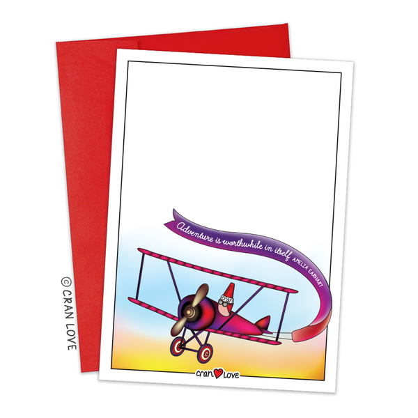"Crayon Flies a Plane, ""Amelia Cranheart"" Stationery Set by Cran Love"