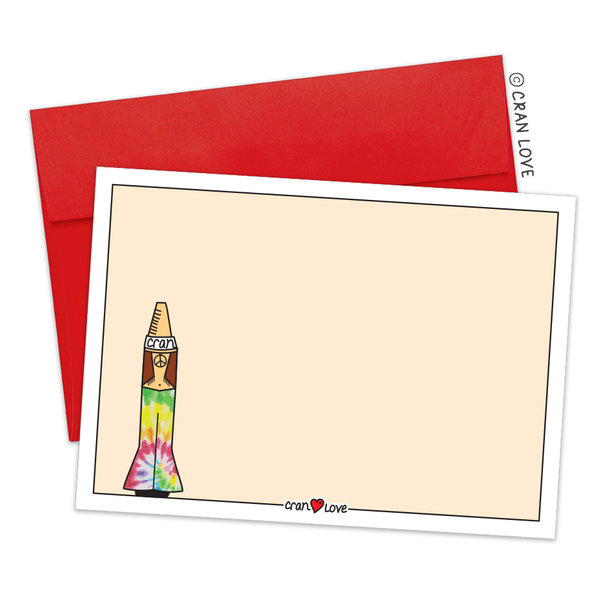 Send a Hello with the Hippie Cran Stationery Set by Cran Love