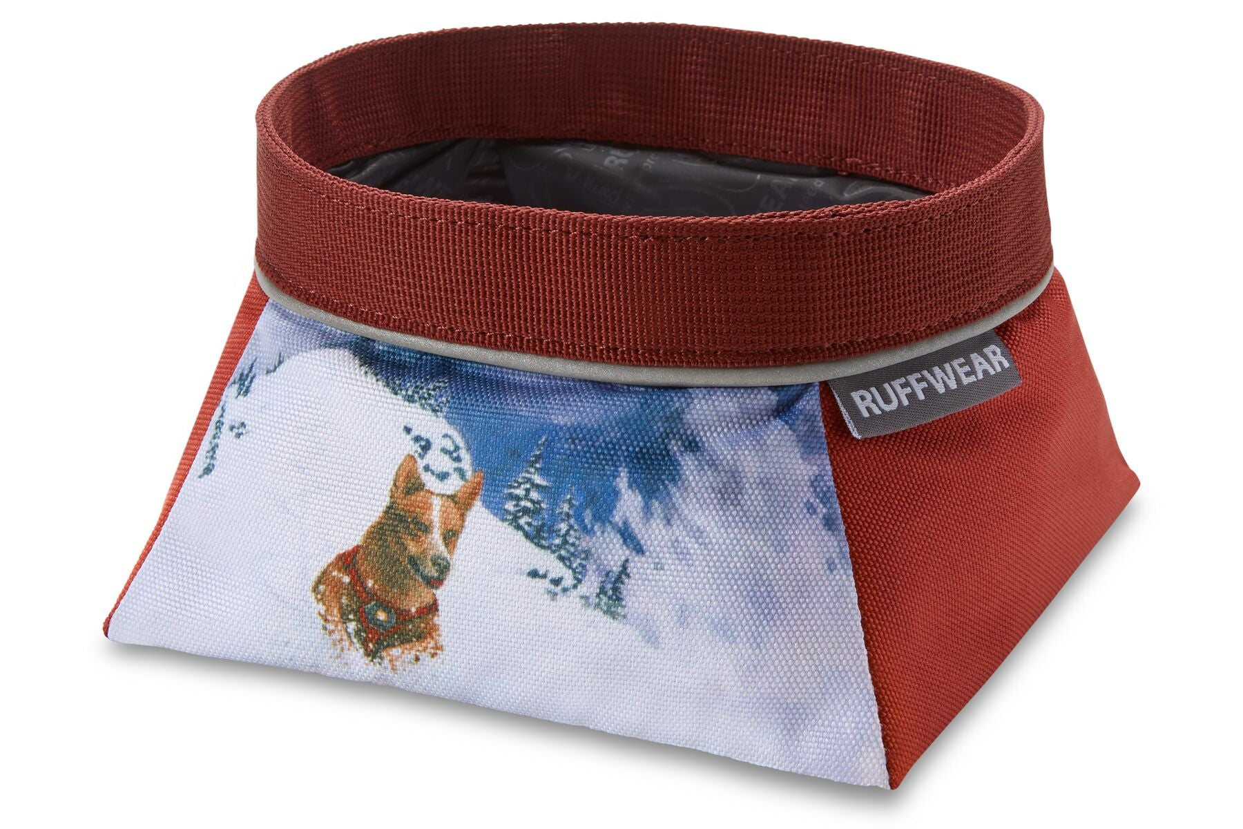 Ruffwear Artist Series Quencher Dog Bowl - Mount Bailey