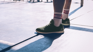 STRIKE MVMNT Spring 2021 Outdoor Fitness Drop. Latest in Minimalist Cross-Training Shoes. Shop the Chill Pill Transit AF Trainer in Army Green Ripstop