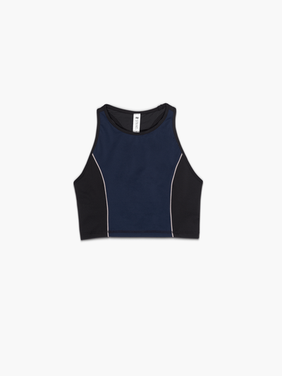 STRIKE MVMNT Bound Sports Bra in Navy and Black TechStretch™
