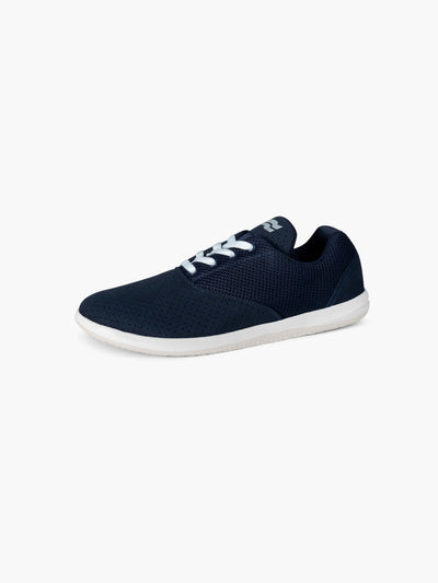 Strike Movement Chill Pill Transit AF versatile cross-training shoes for broad-spectrum performance in Navy Blue Ultrasuede and Bone White