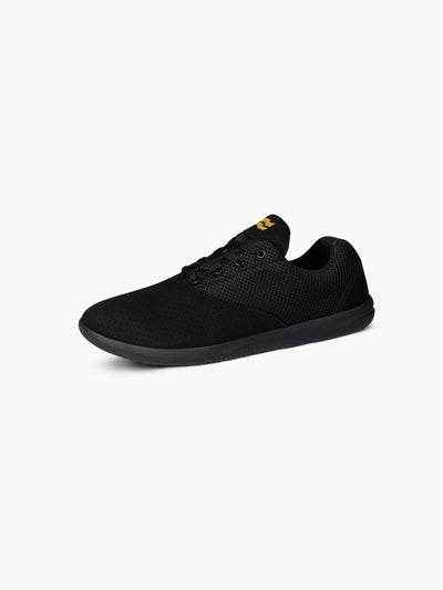 Strike Movement Chill Pill Transit AF versatile cross-training shoes for broad-spectrum performance in all black Phantom UltraSuede