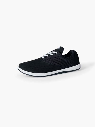 Strike Movement Chill Pill Transit AF versatile cross-training shoes for broad-spectrum performance in Phantom Black Ultrasuede and Classic White