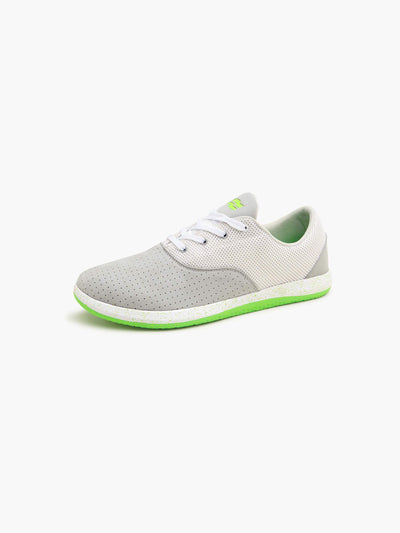 Strike Movement Chill Pill Transit versatile cross-training shoes for broad-spectrum performance in Lunar UltraSuede / Neon Green