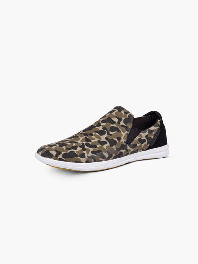 Strike Movement Traveller slip-on shoes for broad-spectrum performance in Camo Canvas