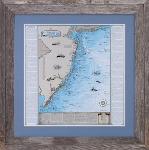 Framed New Jersey Shipwrecks: Sandy Hook to Cape May