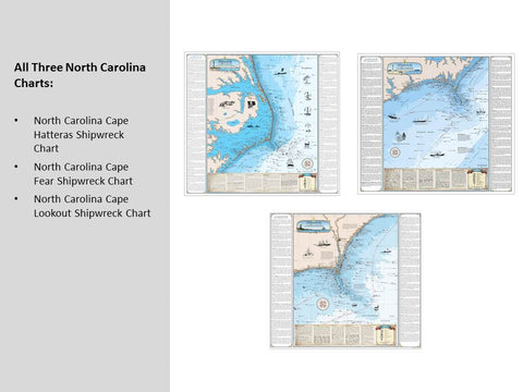 North Carolina Shipwreck Chart: Cape Lookout to New River
