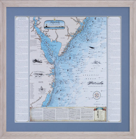 Framed Shipwrecks of the Mid-Atlantic: DE, MD, and Southern NJ