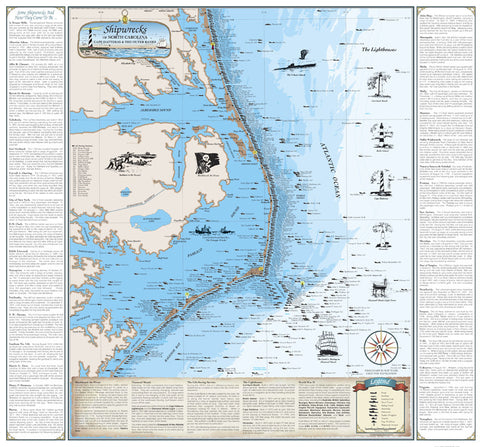 North Carolina Shipwrecks Chart: Cape Hatteras and the Outer Banks