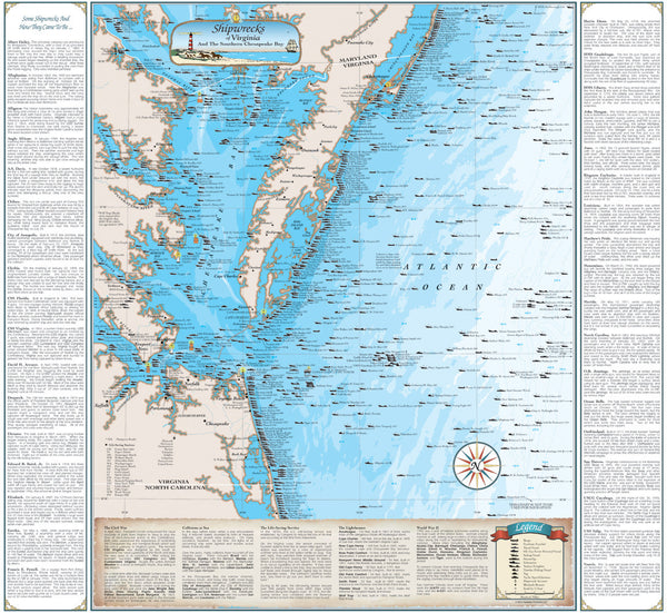 Virginia Shipwrecks: Including the Southern Chesapeake Bay | Sealake Products LLC