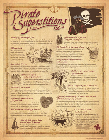 "50% OFF  |  Pirate Superstitions (Paper, 15 1/4"" x 19 1/2"")"