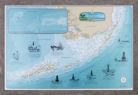 Framed Lighthouses of the Florida Keys: Fowey Rocks to the Dry Tortugas