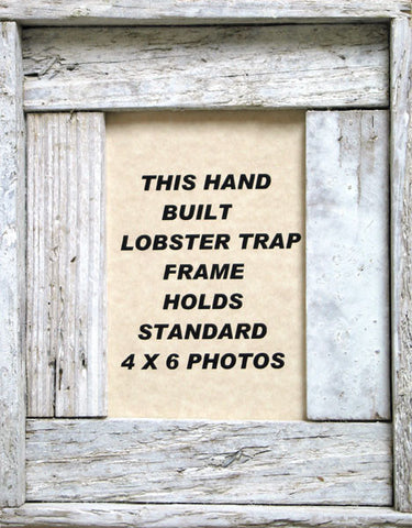 "4"" x 6"" Lobster Trap Wood Picture Frame"