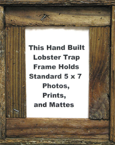"5"" x 7"" Lobster Trap Wood Picture Frame"