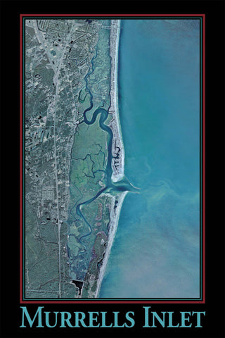 Murrells Inlet Satellite Print