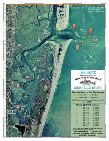 South carolina murrells inlet aerial photo sealake for Murrells inlet sc fishing