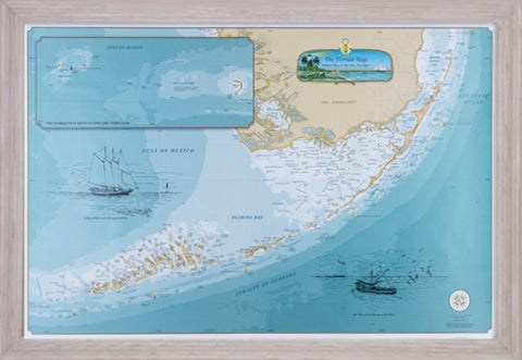 Framed Original Florida Keys Chart