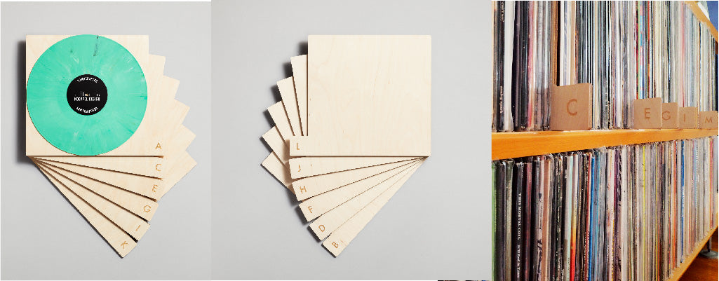 Space-saving alphabetical record dividers