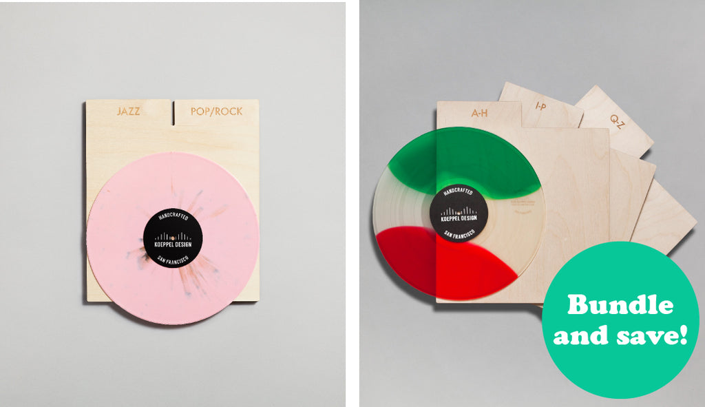 Genre and Alphabetical record dividers by Koeppel Design