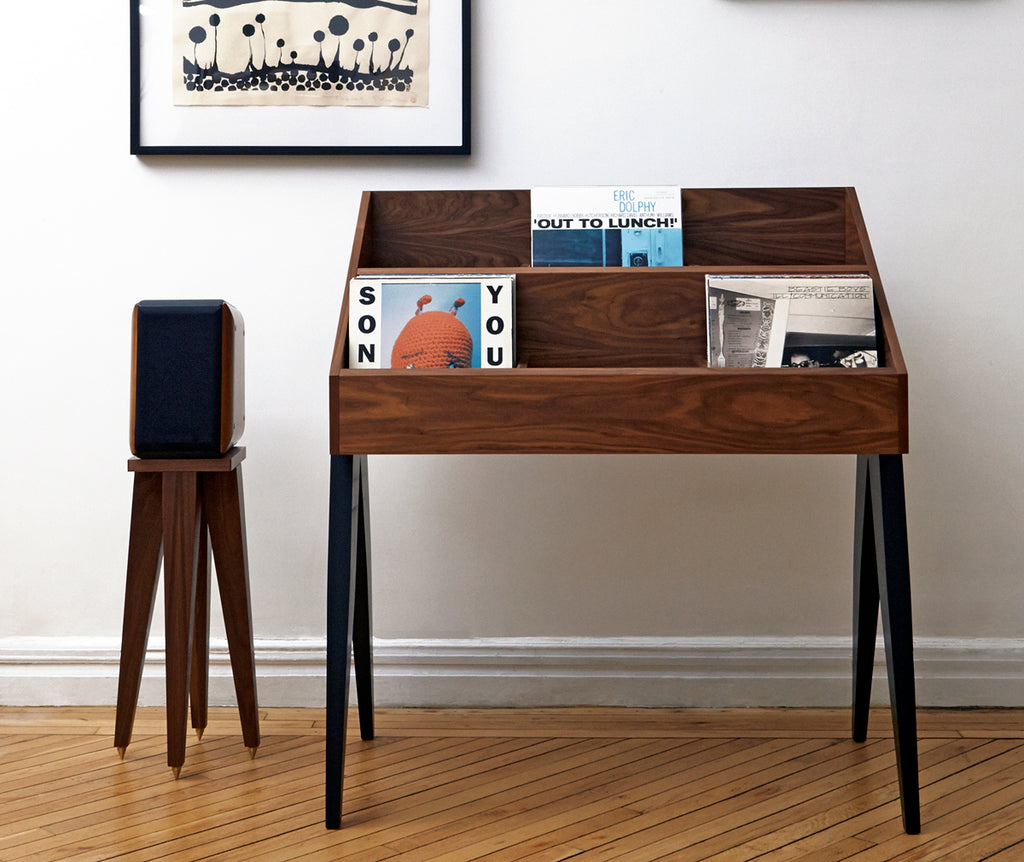 Atocha Design Record Stand via Kate Koeppel Design