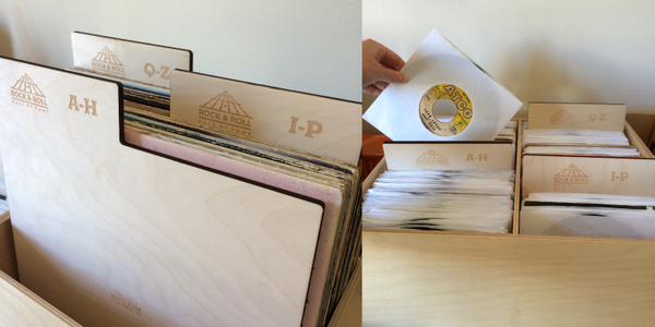 Custom record dividers for Rock and Roll Hall of Fame's Library and Archives