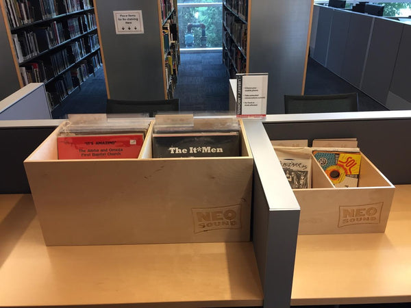 Custom record crates Rock and Roll Hall of Fame's Library and Archives