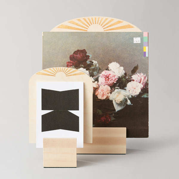 The Sunburst Art Block is a stylish and multi-purpose tabletop display for a wide range of art, zines, records and prints. This holiday set includes two sizes!