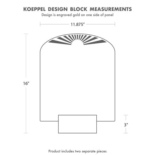 All Koeppel Design products are gift-ready and packaged for shipment. We do not include printed receipts in our packages.