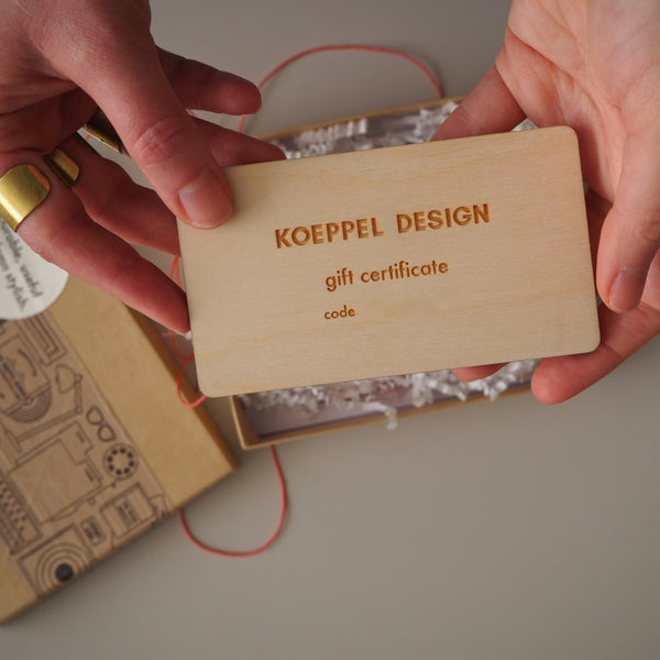 Best gift for vinyl collectors- a Koeppel design Gift certificate  from $50!