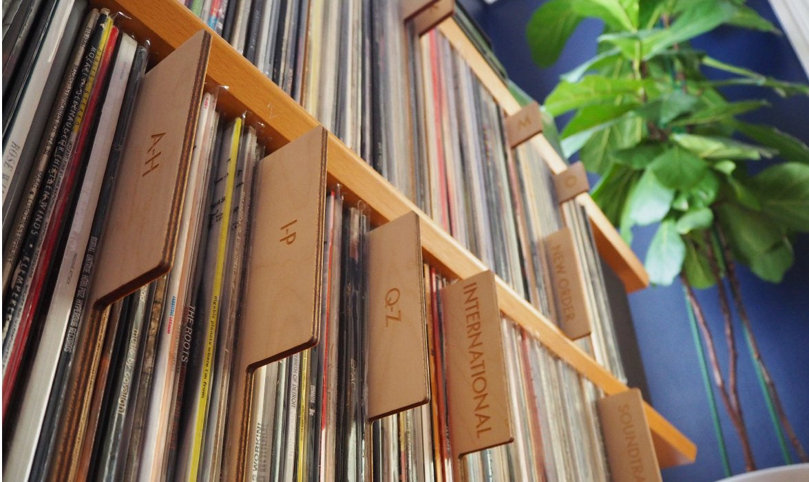 Alphabetical record dividers, header cards and genre separators