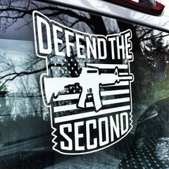 DTS American Flag Logo Decal - White
