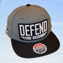 Defend The Second Logo Snapback Hat - Grey