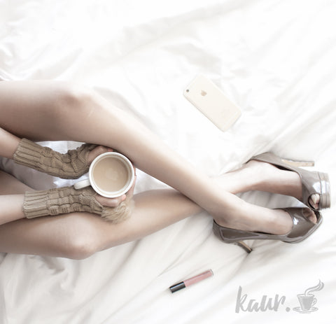 stylish coffee and heel photo shoot ideas