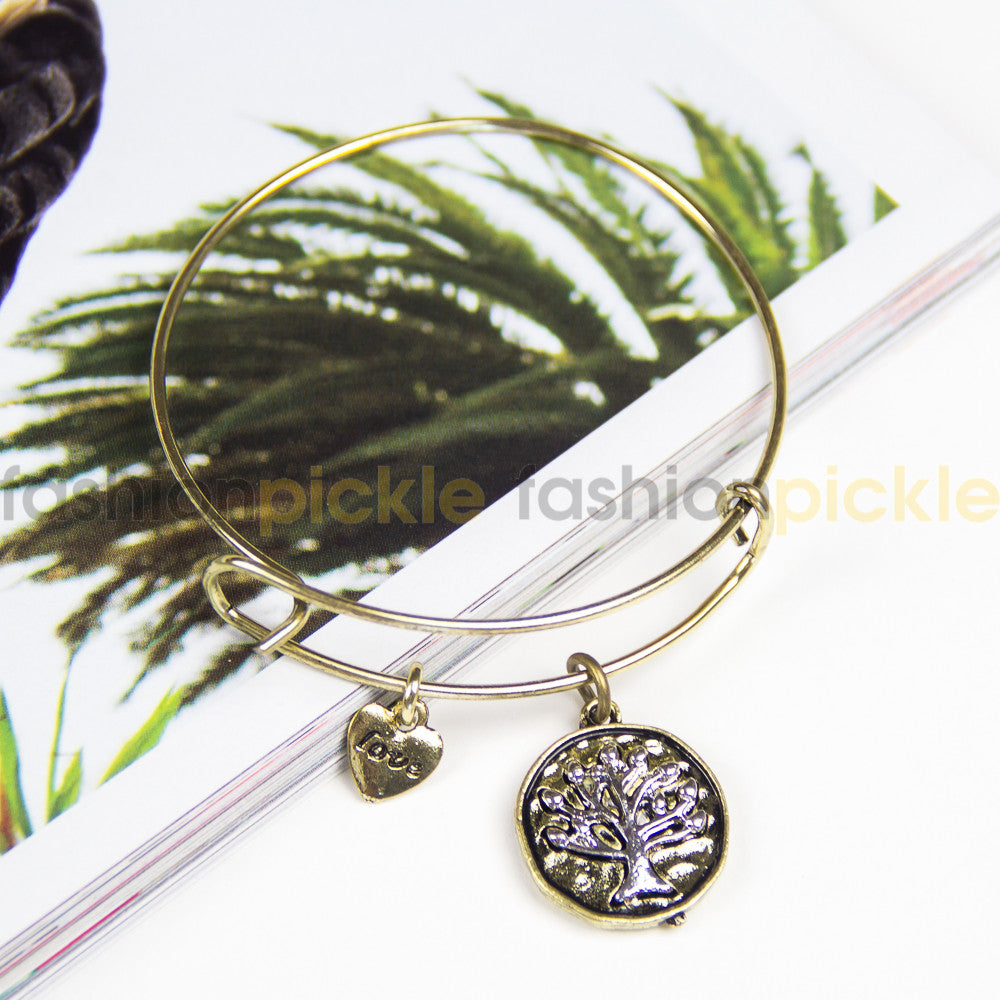 Ab0326   Charms Bracelet   Gold Color With...