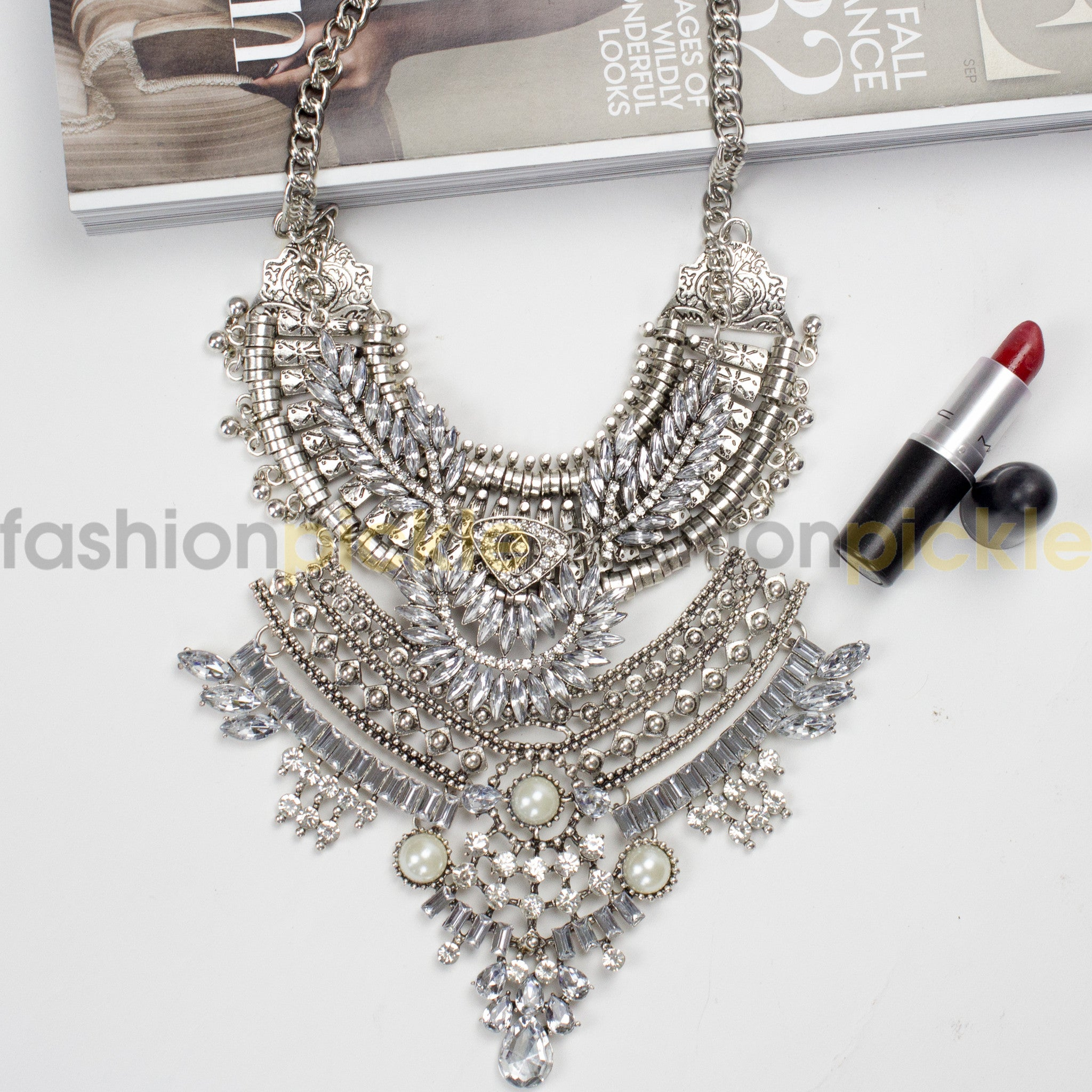 necklaces is gold glass product jewelry browse already shop img with statement necklace wishlist blue the in bib shades chunky stones of beautiful