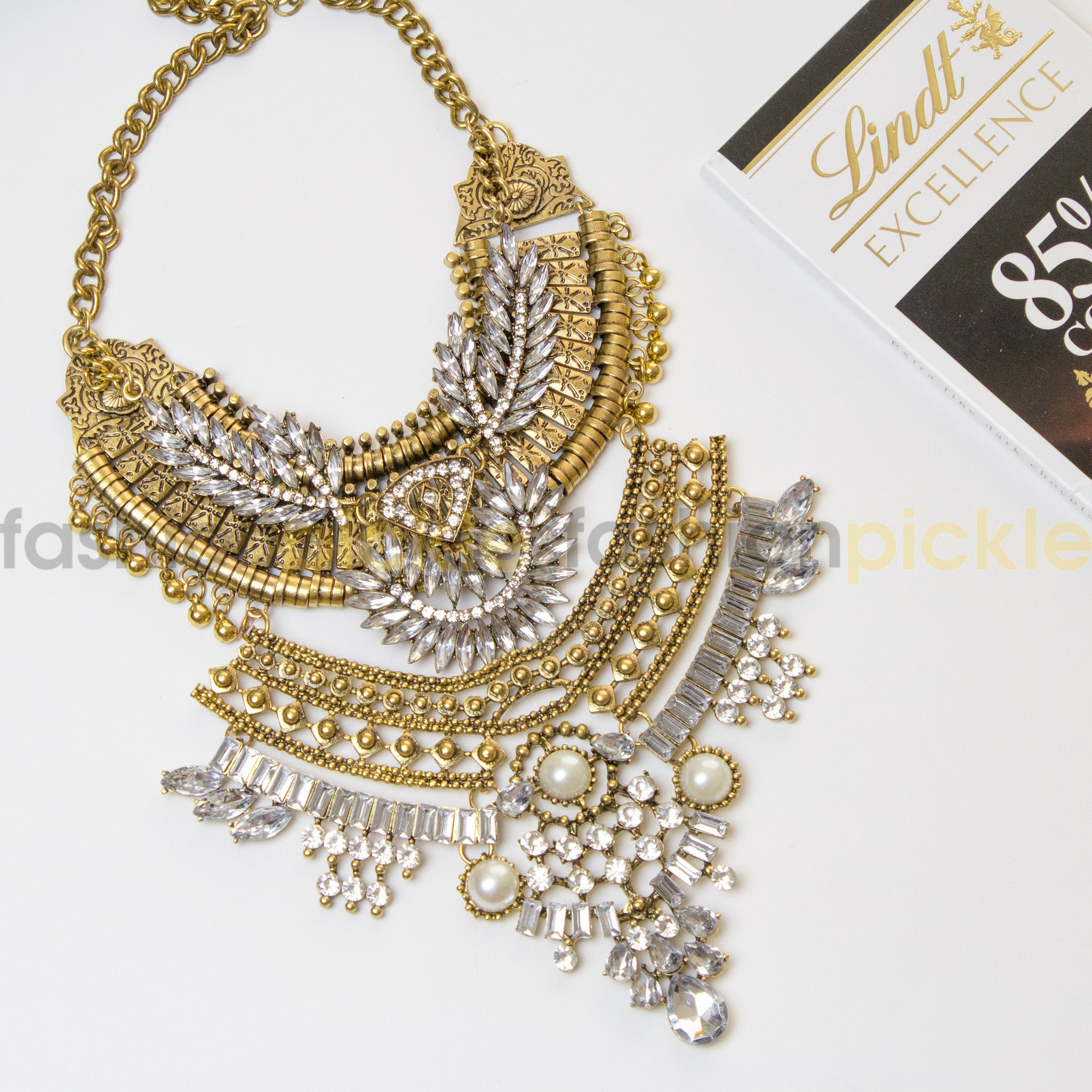 crystal s chunky claire statement necklace us