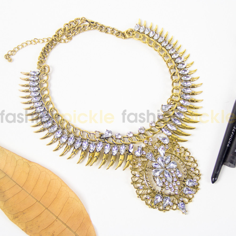 Saltillo Gold Statement Necklace