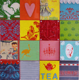 Ceramic Tile, Handmade Tiles, Kitchen Tiles, Coloured Tiles, Funky Tiles, Vintage Tiles