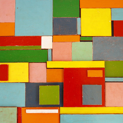 Coloured wall panelling, wall covering, decorative wall coverings, coloured blocks,