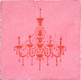 Ceramic Tile, Pink chandelier, kitchen tile, bathroom tile, wood look tile, pink and red
