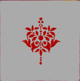 Ceramic Tiles, Handmade Tiles,Bathroom Tiles, Filigree, Kitchen Tiles, Red and Grey