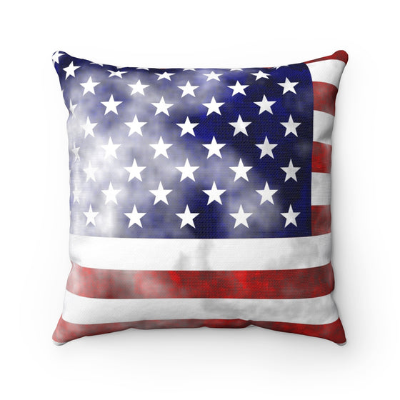 My Fabulous Style Beautiful Vintage American Flag  Fashion Square Throw Pillow- High Fashion Throw Pillow