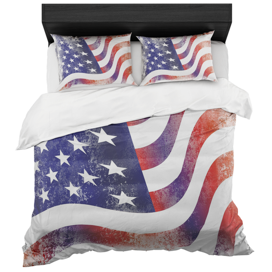 Chic America Strong Flag Duvet Set