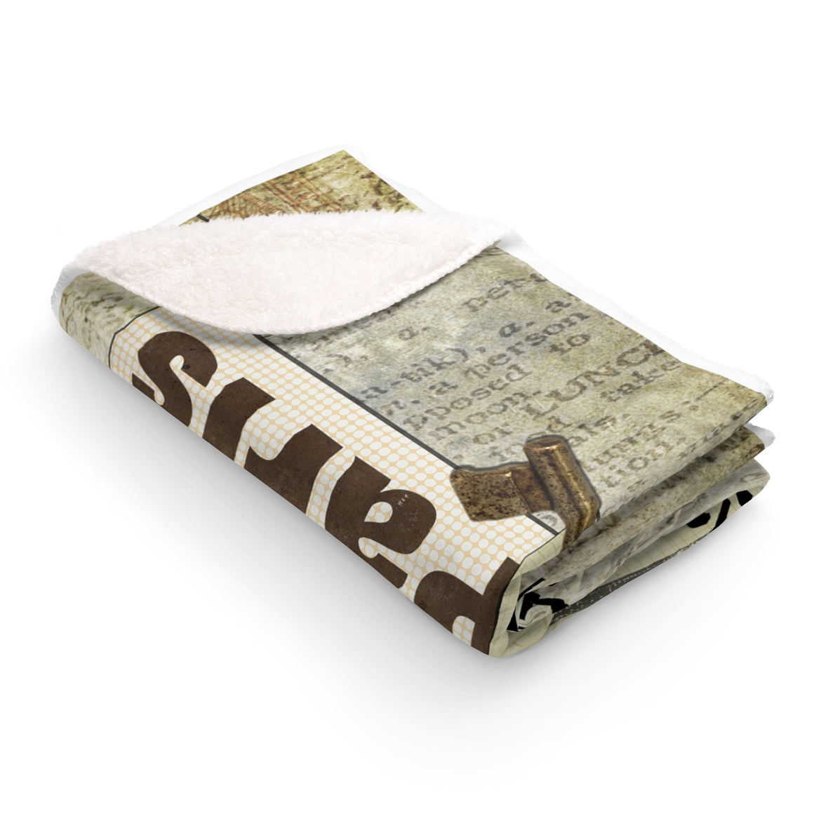 My Fabulous Style Made to Order Paris Paris  Sherpa Fleece Blanket-Luxurious Fleece Blanket